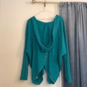 BILLABONG turquoise zip up hoodie S/M